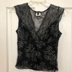 Bebe black floral top